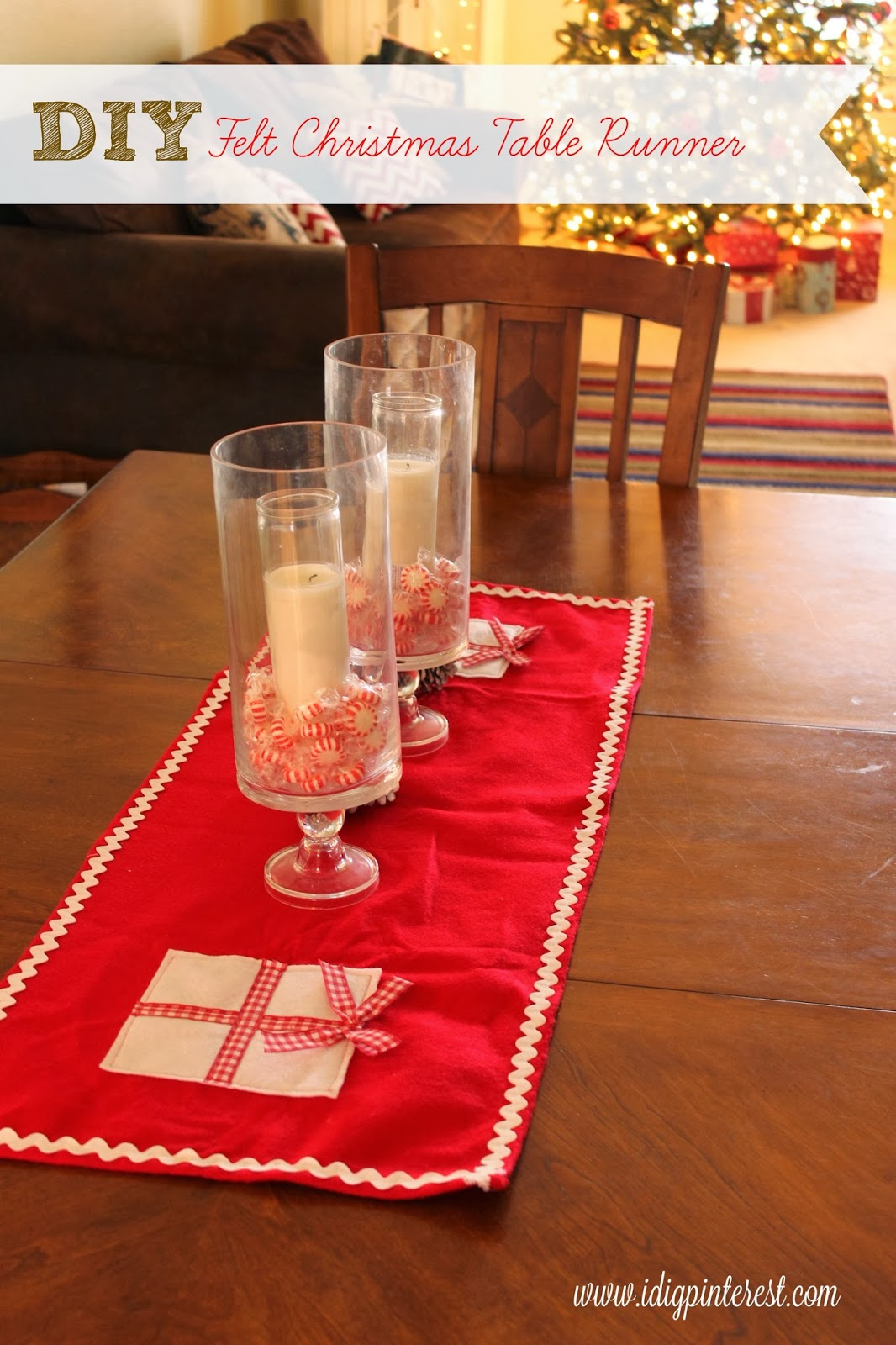 Christmas Table Runner Diy.Diy Felt Christmas Table Runner I Dig Pinterest