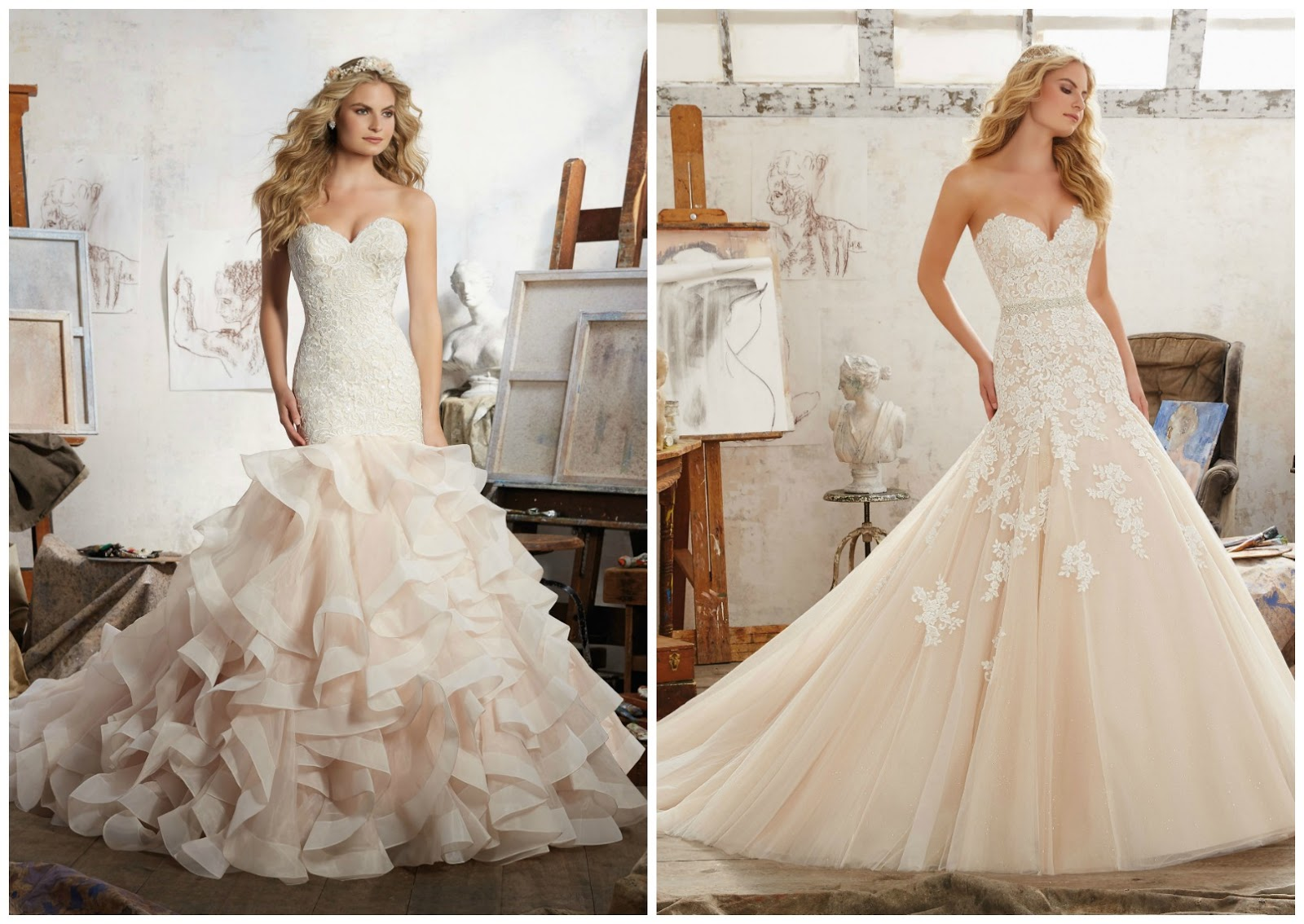 Brides of america online store wedding dresses come in for Wedding dress shades of white