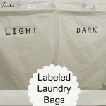 How to Make Labeled Laundry Bags