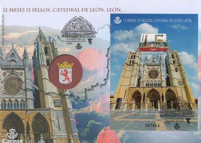 Sobre del matasellos PDC del sello de León