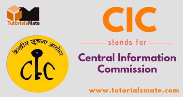 CIC Full Form