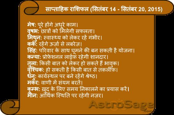 Jane aane wale is saptah mein kaisa rahega apka bhavishya phal.
