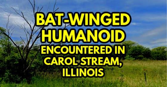 Bat-Winged Humanoid Encountered in Carol Stream, Illinois