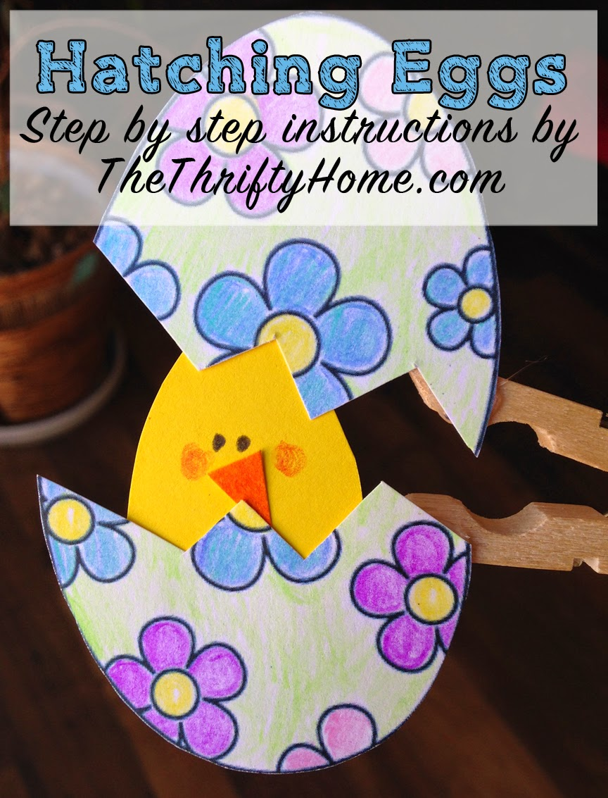 The Thrifty Home Hatching Easter Egg Clothespin Craft