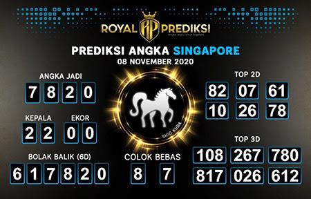 Royal Prediksi SGP Minggu 08 November 2020