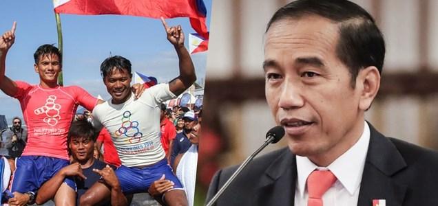 Indonesian President Joko Widodo, pinasalamatan si Casugay matapos sagipin ang Indonesian athlete - Filipino Clip