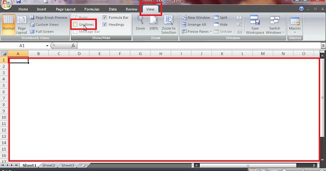Cara Menghilangkan Garis di Excel yang Paling Mudah