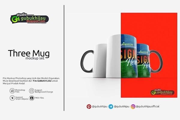Mockup Three Mug Custom
