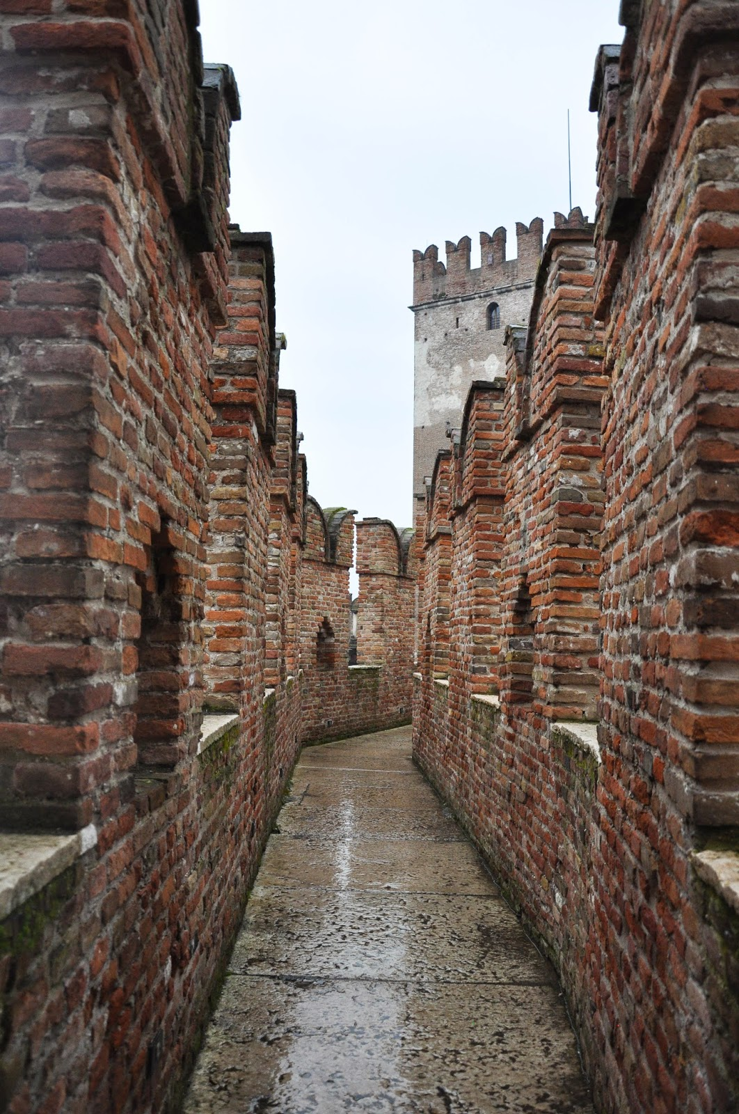 Among the battlements of Castelvecchio in Verona