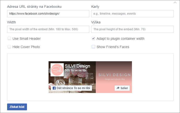 n vod na blog jak vlo it facebook like box silvi design. Black Bedroom Furniture Sets. Home Design Ideas