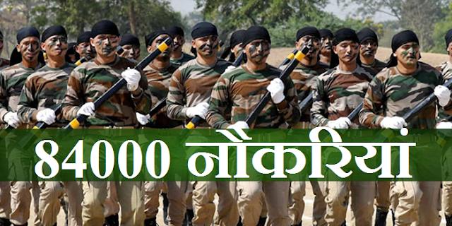 अर्द्धसैनिक बल: 84000 नौकरियों का ऐलान | PARAMILITARY FORCE 84000 JOBS