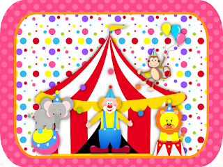Circus for Girls: Free Printable Invitations and Party Printables.
