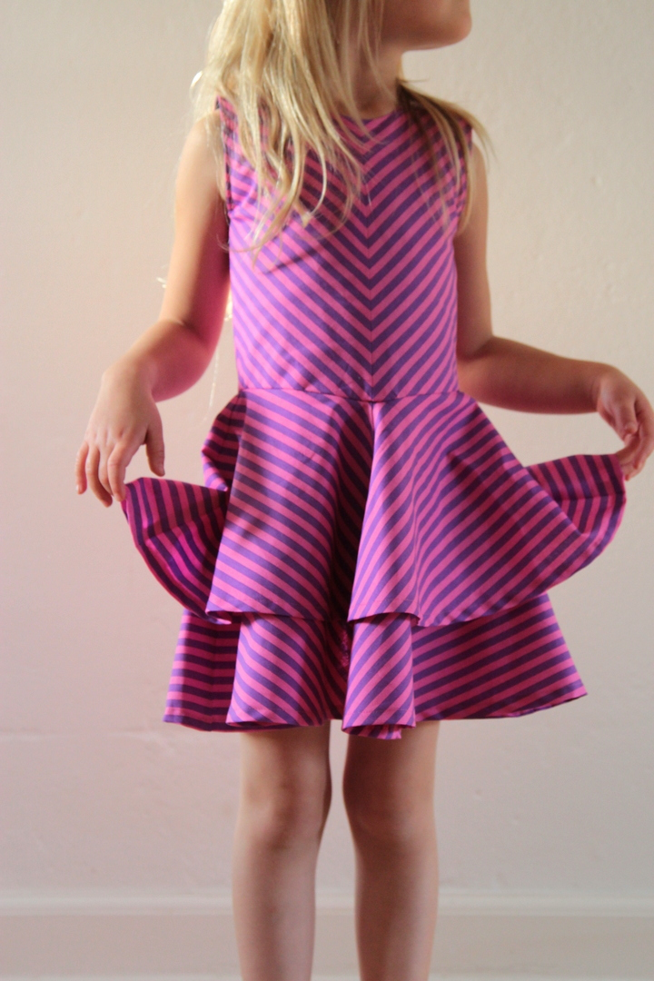 74e721fd36ab Denne kjole blev egentlig syet i sommers som en prøve til Laras  brudepigekjole
