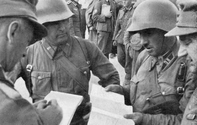 Встреча офицеров горнострелковых войск вермахта с командирами РККА