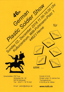 44623; 46th German Plastic Soldier Show; 58739 Wickede; Airfix; Atlantic; Britains Herald; Domplastik; eMail; Germany (venue); Hausser Elastiolin; Herne; Kulturzentrum; PB Toys; peter@pbtoys.de; Sammeler Borse; Show Promoter; Small Scale World; smallscaleworld.blogspot.com; Telephone 02377 787 9322; Timpo Toys; Und So Weiter; Wickeder Straβe 32; Willi-Pohlmann-Platz 1; www.ksfb.de;