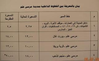ننشر التعريفه الجديده للمواصلات داخل وبين المدن المصرية بعد زياده اسعار الوقود بجميع المحافظات FB_IMG_1562347893918