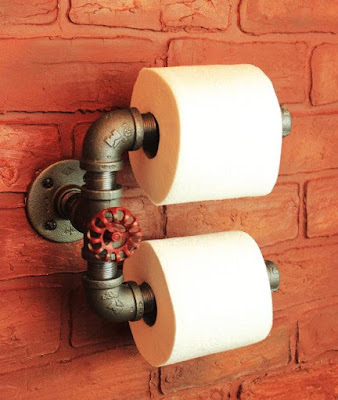 Industrial Pipe Dual Toilet Paper Holder