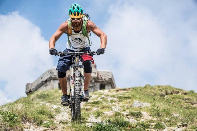 Abfahrt Mountainbike Trail