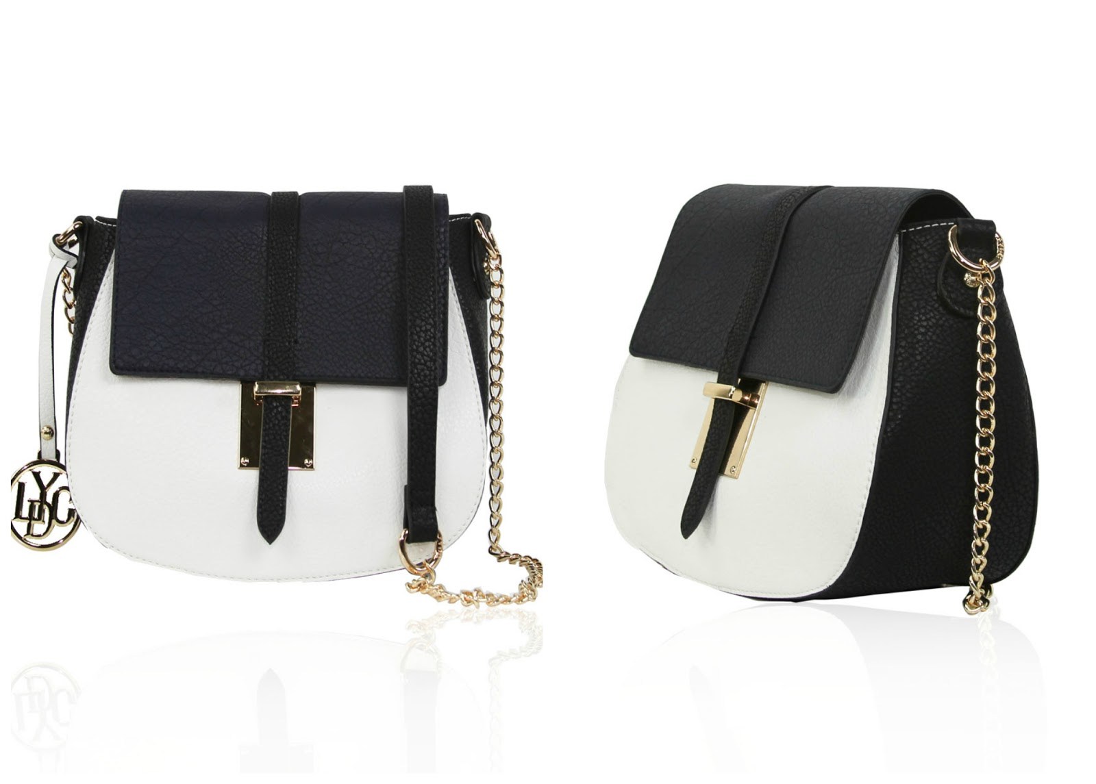 LYDC London Cross body bag, navy, white, colour - block - 100 Ways to 30