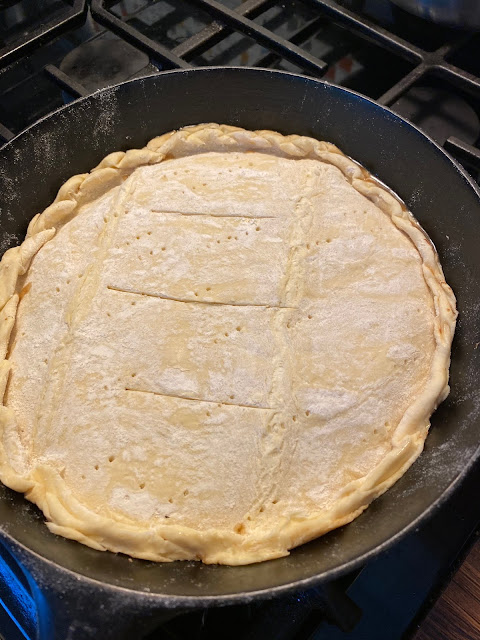 uncooked puff pastry