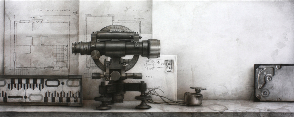 13-Theodolite-Javier-Banegas-Black-and-White-Realistic-Mixed-Media-Drawings-www-designstack-co