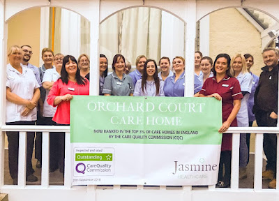 Picture of staff at the Orchard Court Care Home in Brigg which has been rated outstanding by the Care Quality Commission  - image used on Nigel Fisher's Brigg Blog in December 2018