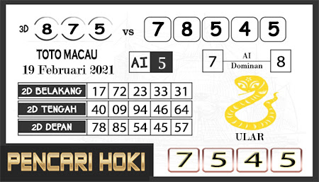 Prediksi Pencari Hoki Group Macau Jumat 19 Februari 2021