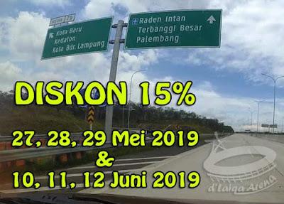 Diskon 15% Jalan Tol Lampung (Bakauheni - Terbanggi Besar)