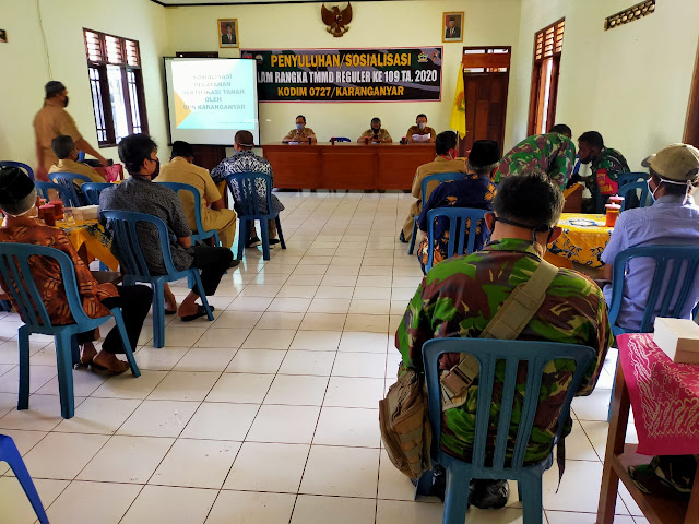 Satgas TMMD 109 Hadiri Sosialisasi Hukum Pertanahan Dan Percepatan Pendaftaran Tanah