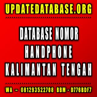 Jual Database Nomor Handphone Kalimantan Tengah