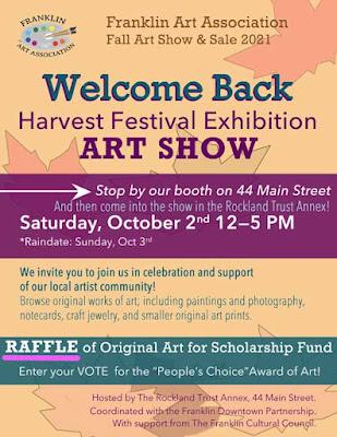 Franklin Art Association: art exhibit - Oct 2, 2021
