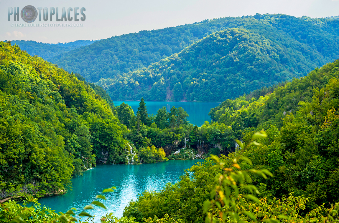 Plitvice lakes seen from above