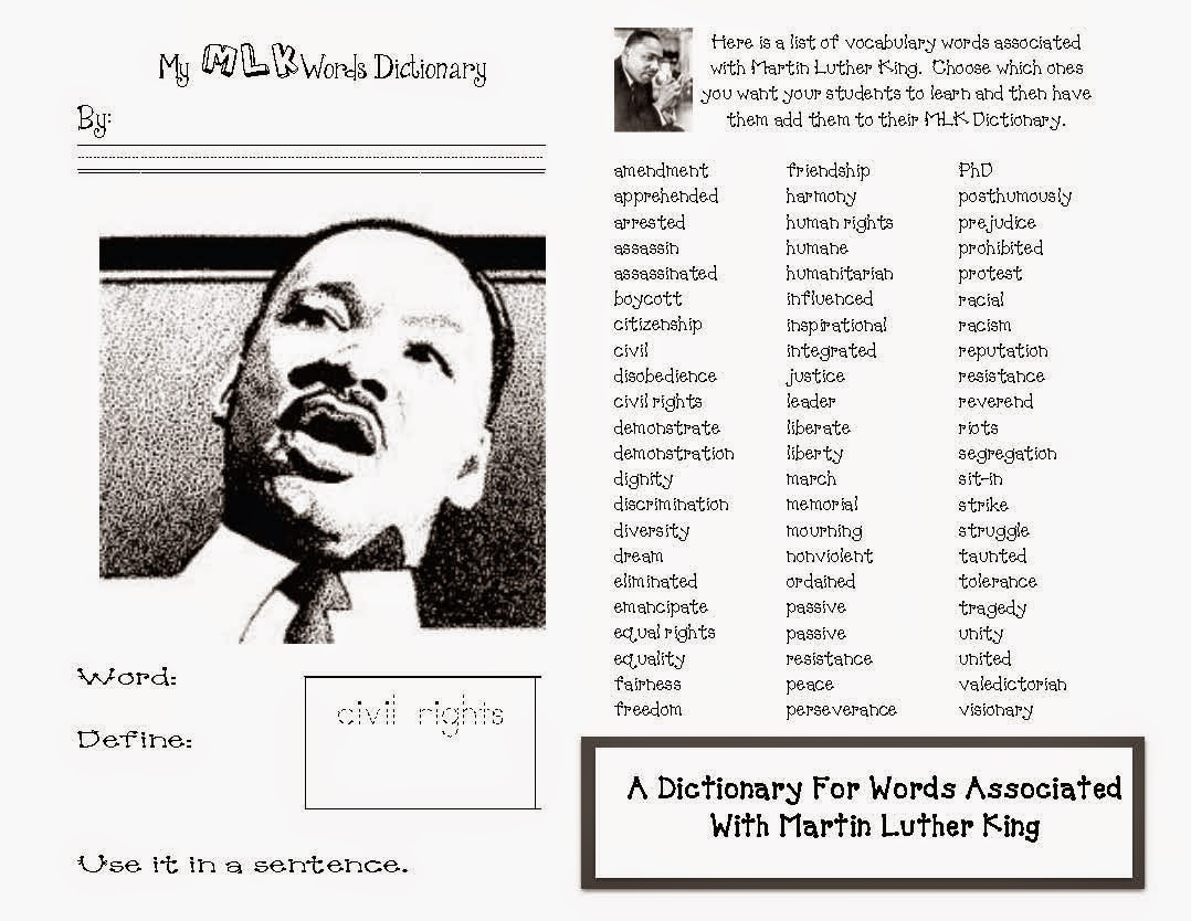 Classroom Freebies Martin Luther King Activities