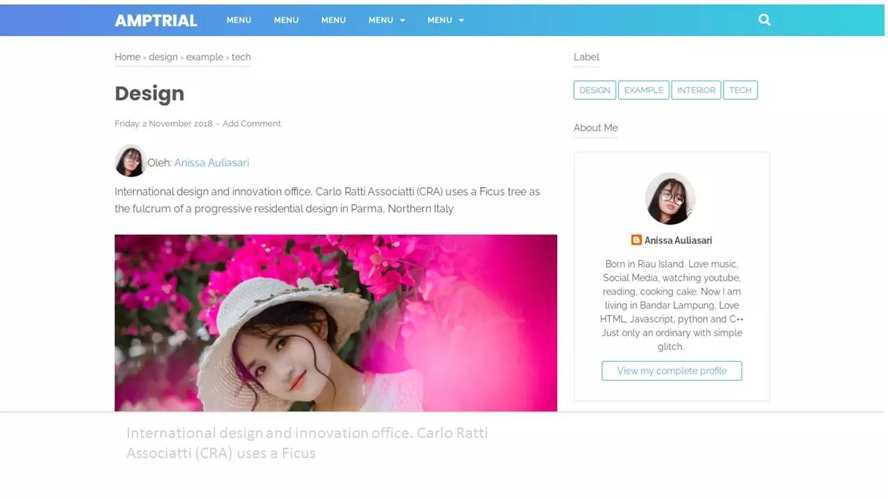 gambar profile penuli di atas postingan