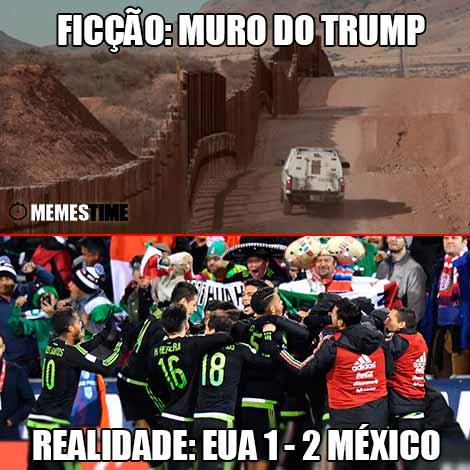 A qualificação para o Rússia 2018 colocou os EUA frente ao México e não ouve muro que livrasse os EUA de uma derrota ou 2 a 1.
