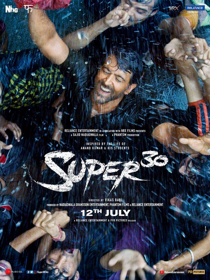 New Poster of Super 30 featuring Hrithik Roshan