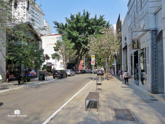Vista de trecho da famosa Rua Oscar Freire - Cerqueira César/Jardins - São Paulo
