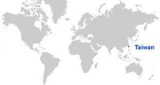 Gambar Peta letak Taiwan