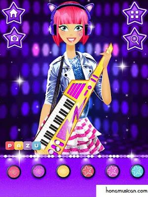 تحميل لعبة مكياج المشاهير و النجمات Makeup Girls - Star dress up games for kids للاندرويد