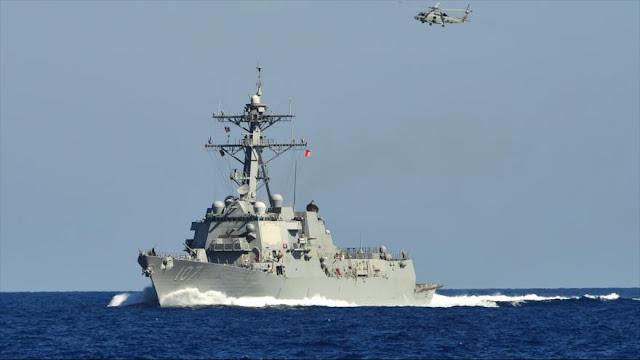 """Destructor de EEUU se acerca """"peligrosamente"""" a un buque ruso en el Mediterráneo"""