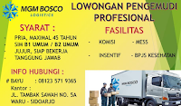 Loker Surabaya Terbaru di MGM Bosco Logistics November 2019