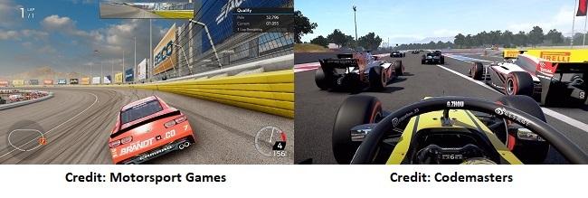 Comparison Nascar Heat 5 Vs F1 2020