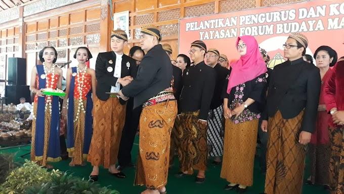 Siap Menjadi Benteng Kebudayaan, Pengurus Forum Budaya Mataram Dikukuhkan
