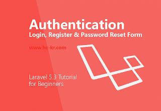 Authentication Login & Registration Form + Bootstrap in laravel 5.3