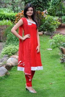 Nikitha Narayan in Red Salwar