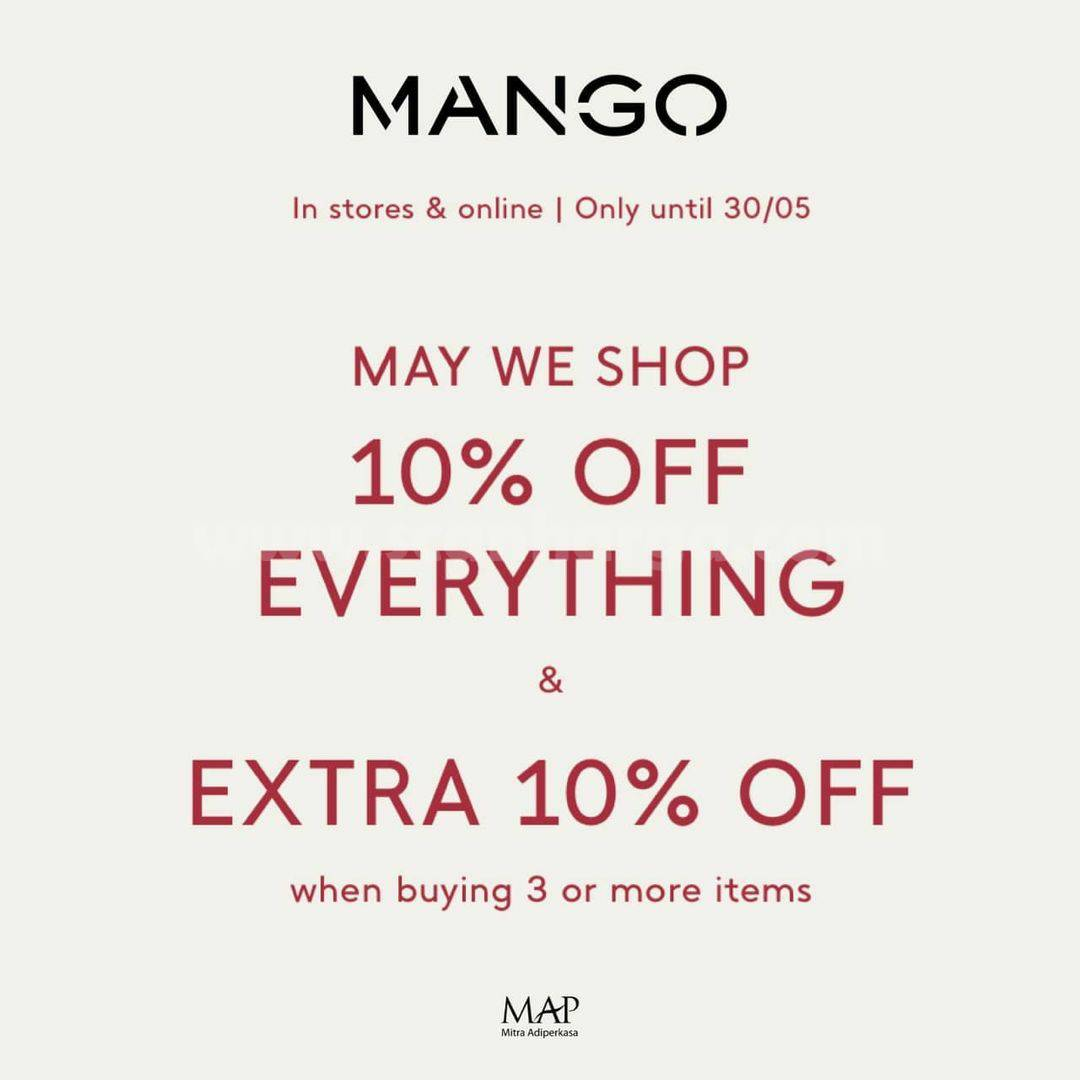 Promo MANGO! May Special Deal Disc. 10% + Extra 10% Off