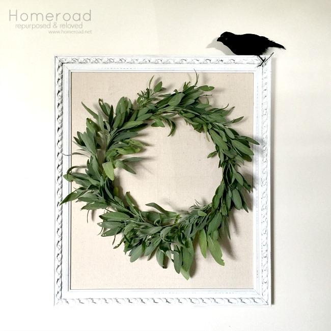 Herbal Sage DIY Wreath from the garden www.homeroad.net