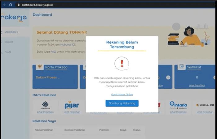 Trik Jitu! Menyambungkan Nomor Rekening Bank atau E-Wallet di Akun Kartu Prakerja