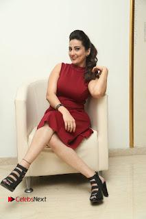 Telugu Tollywood Anchor Manjusha Pos in Red Short Dress  0096.JPG