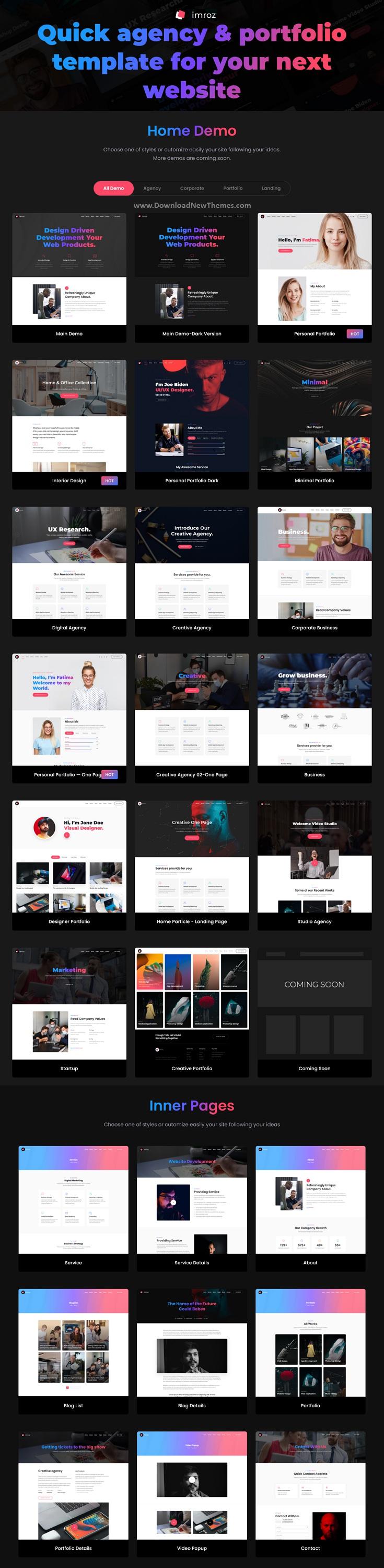 Creative Agency & Portfolio Multipurpose VueJS Template